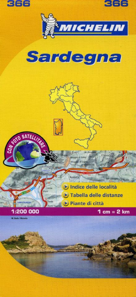 Michelin Yellow Map of Italy 1:200,000
